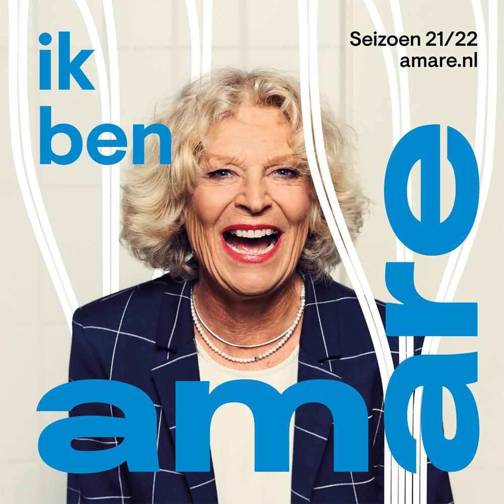 Cover van de brochure van Amare voor seizoen 21/22.